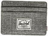 Herschel mens Charlie Rfid Card Case Wallet, Raven Crosshatch, One Size US