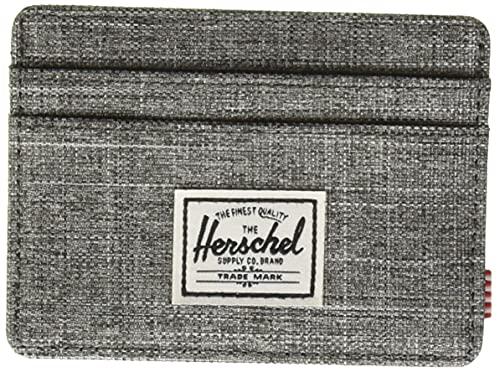Herschel Charlie - Funda para Tarjetas RFID para Hombre, Raven Crosshatch, Taille Unique