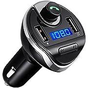 Criacr FM Transmitter, Bluetooth FM Transmitter, Freisprecheinrichtung Car Kit Mit Dual USB-Port, Unterstützung, um U-Disk-Speicher bis zu 32G zu Lessen