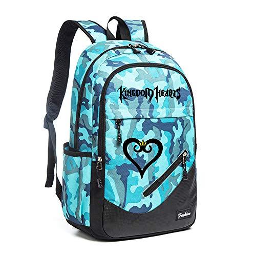 Kingdom Hearts Sacs à Dos Enfant Toile Sac de Voyage Sports et Plein air Sacs à Dos Casual Daypacks Sport Daypack Sac à Dos Camping Randonnée Unisexe (Color : Lake14, Size : 30 X 16 X 45cm)
