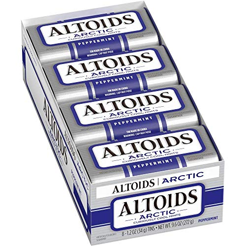 Altoids Arctic Peppermint Breath Mints 12Ounce Tin 32 Pack