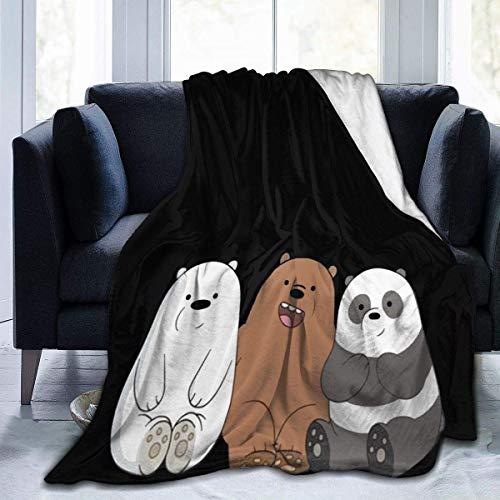 Cool We Bare Bears - Manta de franela suave y cálida para sofá o cama