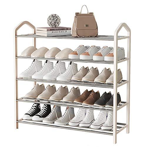 Estante de Zapatos Rack de zapatos de metal de 5 niveles Multi-uso de zapatos Multi-uso Organizador de almacenamiento para la entrada de vestíbulo de vestíbulo dormitorio de sala de estar Organizador