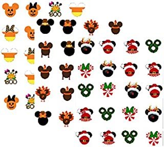 mickey mouse christmas stickers