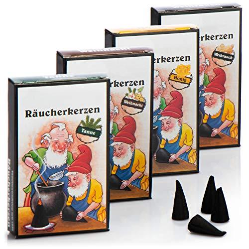 com-four® 96x Räucherkerzen in verschiedenen Duftrichtungen - weihnachtliche Räucherstäbchen - Weihnachts-Duft (096 Stück)