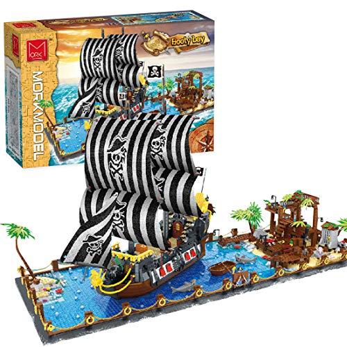 YDDY Creator Piratenbucht Bausteine Piratenbucht mit Piratenschiff Kompatibel mit Lego Creator - 5937 Teile