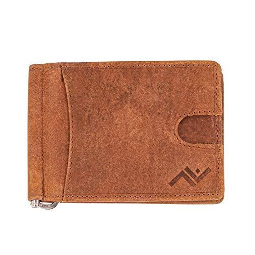 Allverse Money Clip Wallet - Genuine Hunter Leather