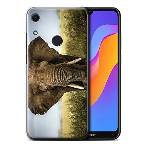 Hülle Für Huawei Honor 8A/Play Wilde Tiere Elefant Design Transparent Ultra Dünn Klar Hart Schutz Handyhülle Case