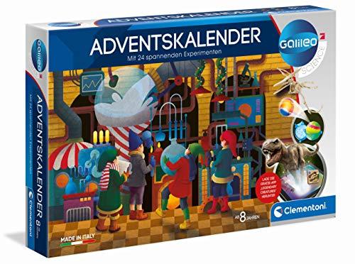 Clementoni 59190 Galileo Science – Adventskalender 2020, spannender Weihnachtskalender, Experimentierkasten mit 24 aufregenden Geschenken, Tricks für Kinder ab 8 Jahren