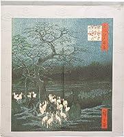のれん 歌川広重_王子装束ゑの木大晦日の狐火 91385