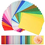 Naler 200 Sheets Assorted Colors Art Tissue Paper for DIY Crafts Decorative Tissue Paper Flower Pom Pom Easter Hunt Basket Stuffers Fillers, 20 Colors, 8'X11'