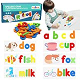 flyingseeds See and Spell Learning Toys, CVC Word Builders with Sight Words Flash Cards Kindergarten, Educational Toys for Toddler 2 3 4 Year Old Boys Girls - Gifts for Kids