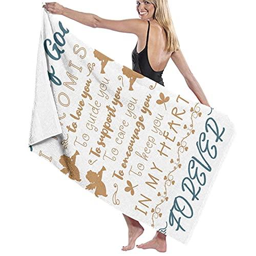 Toalla de natación ligera Super suave Christian Angel Bautismo Regalos para Dios Azul Para Mujeres Hombres 80*130 Cm