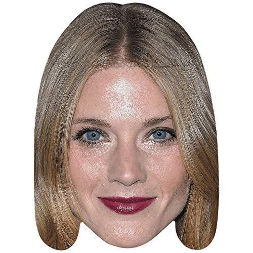 Winter Ave Zoli (Lipstick) Celebrity Mask, Flat Card Face, Fancy Dress Mask