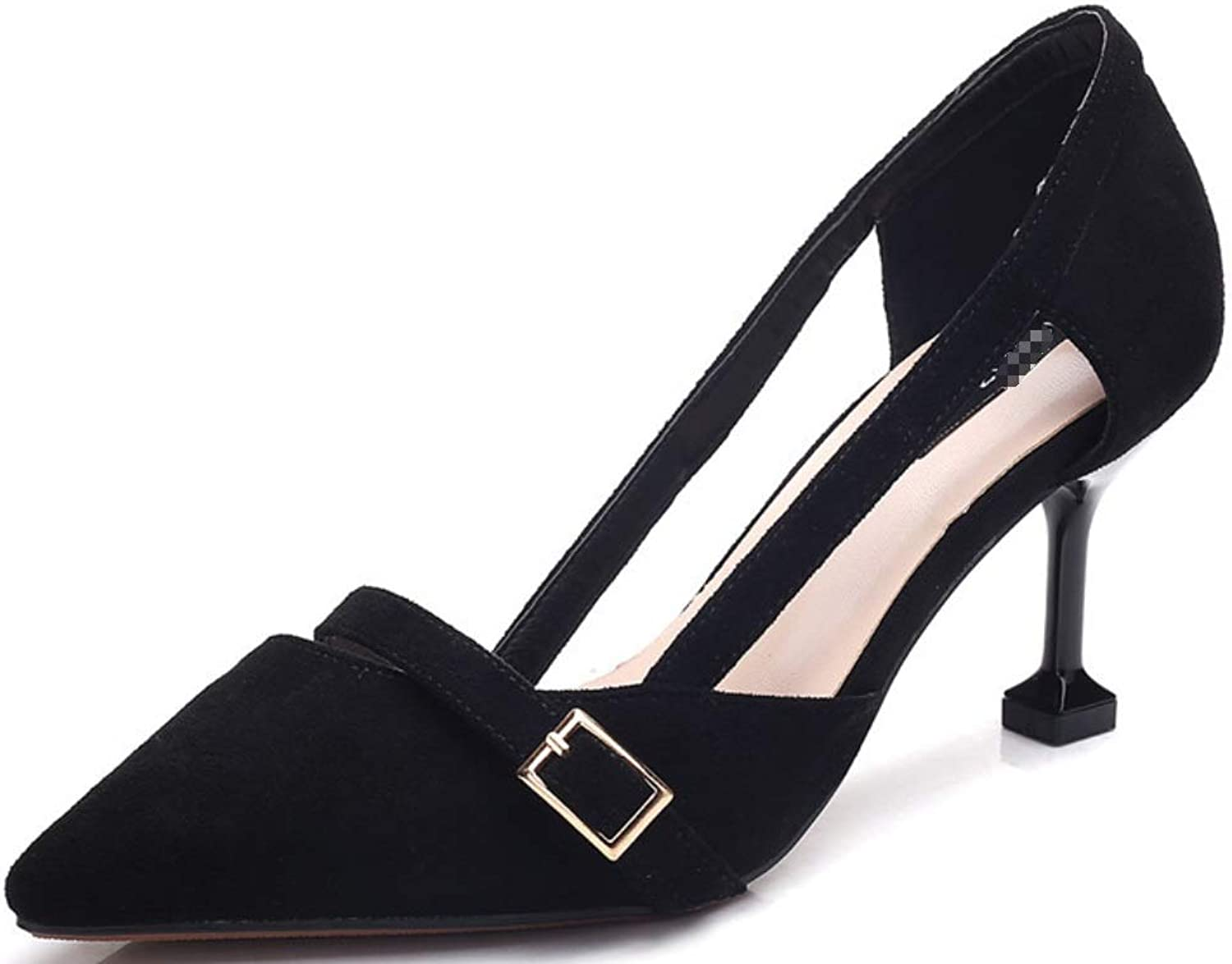 Ladies Super High Heels-Sexy Pointy Sandals-Pure color Velvet Buckle shoes Formal, Wedding, Party Comfort Classic Series Zhhzz
