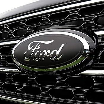 BocaDecals Logo Emblem Insert Decals for Ford F-150-9.45  Wide - Set of 2  Matte Black 2015-2021 Ford F-150 ONLY