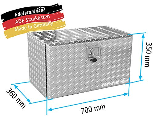 ADE Staukasten aus Alu Riffelblech 700x360x350mm, Edelstalhaus GmbH, Made in Germany
