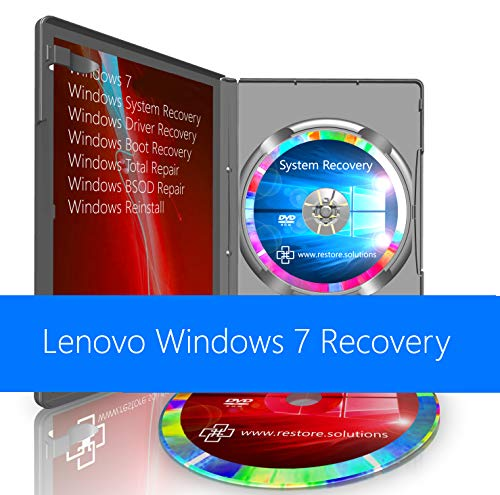 Lenovo Windows 7 Operating System Recovery Restore Reinstall Repair Boot Disc + Driver DVD 32 Bit
