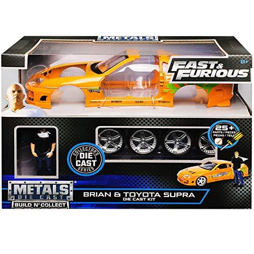 Toyota Supra Orange mit Figur Brian...