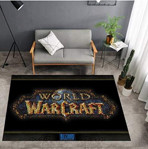 juan Alfombra Anime Cute Carpet Anime Game World of Warcraft Decoración Creativa Durable Absorbente Sala De Estar Alfombrilla Rectangular Cojín Antideslizante 100 Cm * 160 Cm