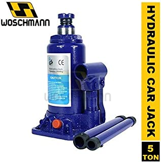 Woschmann - Car Jack Hydraulic Bottle Jack With Safety Valve Blue Car Jack - 5 Ton Capacity (Check your Car Name in Lat Image)