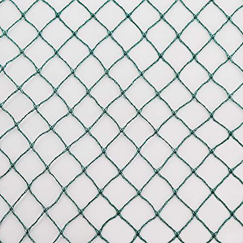 Vielseitiges Teichnetz 7m x 8m grün 17mm x 17mm Masche I Aquagart Laubschutznetz Teich Abdecknetz Vogelschutznetz Gartennetz Baumnetz Reiherschutz Beet-Netz Laubnetz Silonetz Schutznetz Teichabdeckung