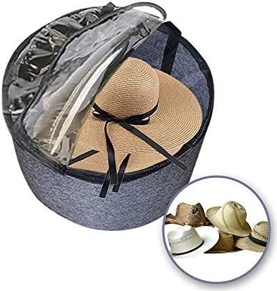 TreeHouse London XL Luxury Felt Hat Storage Box with Lid 11 5 H Travel Hat Boxes for Men Women product image