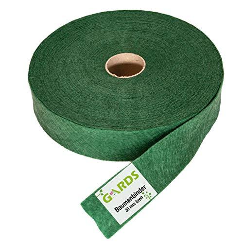 Gards® Baumanbinder – Vliesband – Gartenschnur, 25 Meter, atmungsaktiv, luftdurchlässig, witterungswiderstandsfähig, 100prozent aus Österreich, 30 mm breit, 200g/m², grün