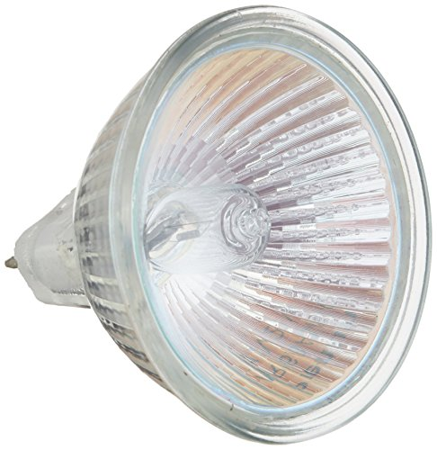 Sterl Lighting - Pack of 10 MR16 Landscape Lighting a Bulb with Lens Halogen Flood Light - 20 Watts - 12 Volts - GU5.3 Bi-Pin Base - 2700K - 260 Lumens