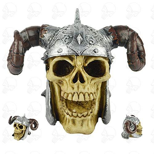 Figuur, beeldjes, beeldjes, beeldjes, sculptuuren, simulatie schedel beeldje hoorn hars kunsthandwerk gehaakt huis decoratie voor woonkamer boekenkast decoratie creatieve bureau-ingang