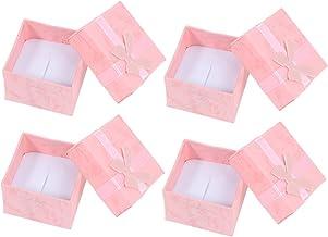 Toyvian Kartonnen Sieraden Dozen 24Pcs Pink Paper Sieraden Organisatoren Dozen Present Verpakking Dozen Voor Ketting Oorbe...