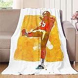 Elliot Dorothy Mitch Wishnowsky 6 Manta de franela súper suave manta de franela cómoda manta ligera de 152,4 x 203,2 cm