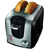 BLACK+DECKER T2707SB 2-Slice Toaster, Bagel Toaster, Black