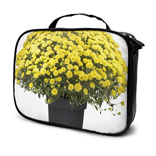 Flores Coloridas en una Maceta de cerámica Bolsas de cosméticos pequeñas para...