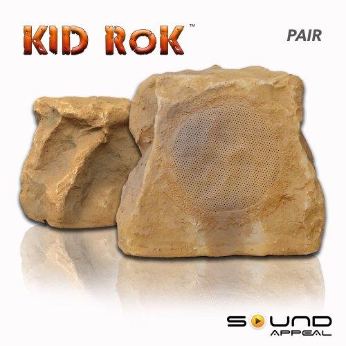 Buy Discount Kid Rok Outdoor Rock Speaker (Kid Rok Slate - 2 Pairs)