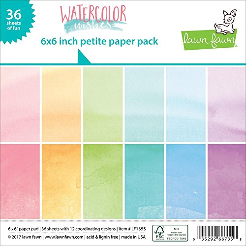 Lawn Fawn Petite Paper Pack - LF1355 Watercolor Wishes 6'X6'
