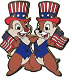 Disney Pin Patriotic Chip 'n' Dale - Flags and Hats