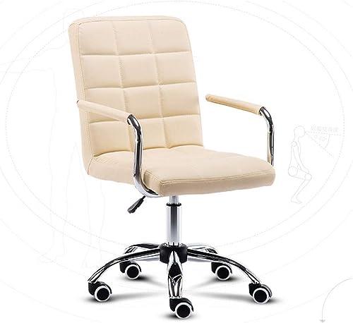 MYAOU Chaise pivotante Hauteur réglable Ordinateur Bureau Chaise réunion Dossier Chaise Chaise Bureau à Domicile Salle d'étude Meubles
