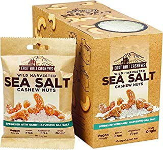 East Bali Cashews Sea Salt Cashew Nuts, 1 box of 10 packets