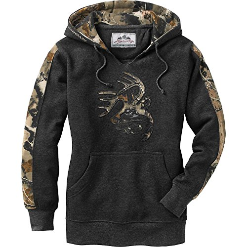 Legendary Whitetails Ladies Outfitter Hoodie Charcoal Heather Medium