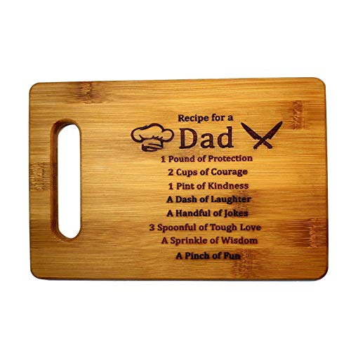 Recipe for a Dad Cute Funny Laser Cutting Board, Engraved...