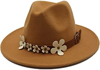 Autumn and Winter Women Fedora Hat 5 Flowers Cap Sunshade Boys Hats Top Hat