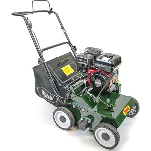 Webb LS38 Petrol Scarifier with Collector