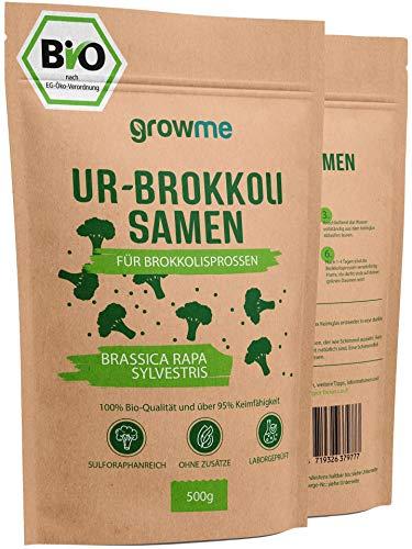 BIO Brokkoli-Sprossen Samen [500g] - Brokkoli-Samen mit über 95% Keimfähigkeit und einmalig hohem Sulforaphan-Gehalt - Microgreens zum Keimen - 100% laborgeprüfte BIO-Qualität