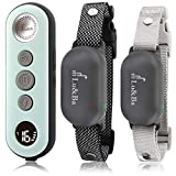 Lu&Ba Dog Training Collar with Remote, 2 Receiver Dog Shock Collar Rechargeable Waterproof 3000ft Training Collar with Beep Vibration and Safe Shock Modes for 10-110 lb Small Medium Large Dogs