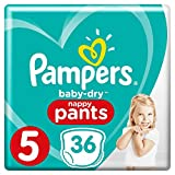 Couches Pampers Taille 5 (12-18 kg) - Baby Dry Pants, 36 Couches - Pack Géant