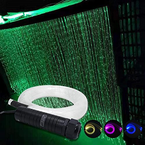6W APP RGBW Sound Activated Flash Point Fiber Optic Light Waterfall Curtain Kit for Home Decor