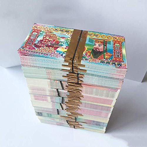 XUETT Joss Paper Money 1800 Piezas Chinese Joss Paper Money Grandes Denominaciones Ritual Paper Ancestors 180pcs * 20
