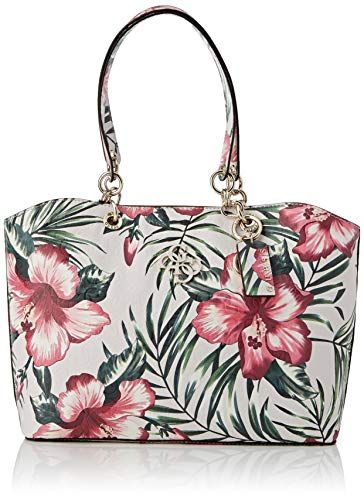 Guess Chic Shine Tote, bolsos para Mujer, Floral, Talla única