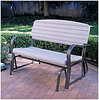 Lifetime Glider Bench Powder-coated Steel & High Density Polyethylene, Stain Resistant & Easy to Clean